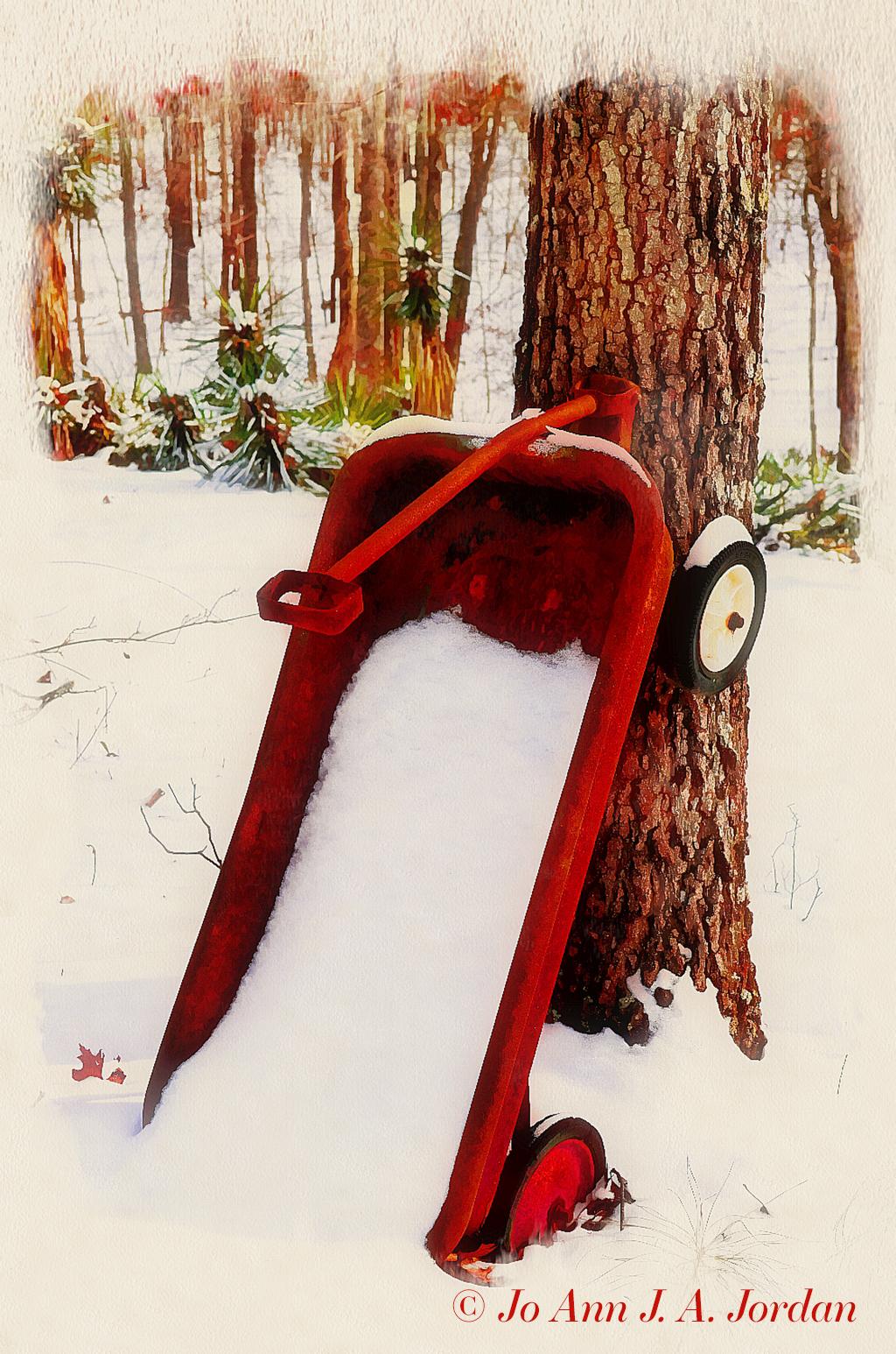2020.07.04 Wagon in Snow Illustration rr